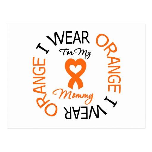 Multiple Sclerosis Orange Ribbon Mommy Post Cards