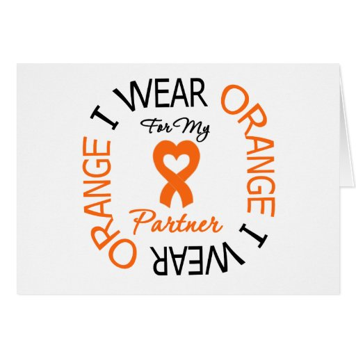 Multiple Sclerosis Orange Ribbon Partner Cards