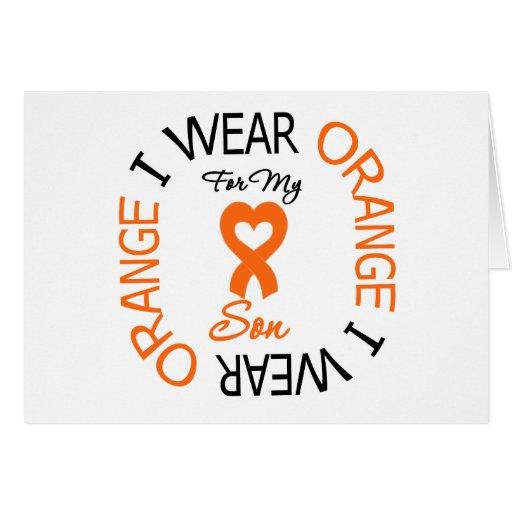 Multiple Sclerosis Orange Ribbon Son Cards