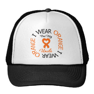 Multiple Sclerosis Orange Ribbon Uncle Trucker Hat