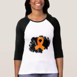 Multiple Sclerosis Orange Ribbon With Scribble Tee Shirts