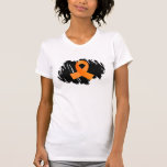 Multiple Sclerosis Orange Ribbon With Scribble Shirt