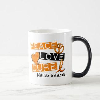 Multiple Sclerosis PEACE LOVE CURE 1 Mugs