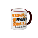 Multiple Sclerosis PEACE LOVE CURE 1 Mug
