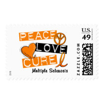 Multiple Sclerosis PEACE LOVE CURE 1 Postage