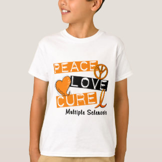 Multiple Sclerosis PEACE LOVE CURE 1 T-Shirt