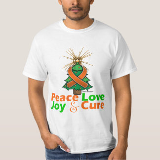 Multiple Sclerosis Peace Love Joy Cure T Shirt