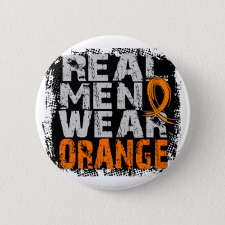 Multiple Sclerosis Real Men Wear Orange Button