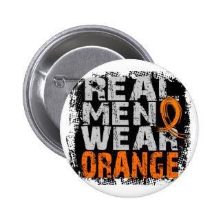 Multiple Sclerosis Real Men Wear Orange Pinback Button