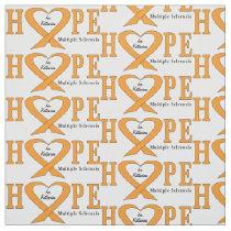 Multiple Sclerosis Ribbon Name Customizable Fabric
