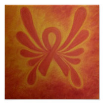 Multiple Sclerosis ribbon poster