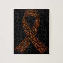 Multiple Sclerosis Ribbon Products Jigsaw Puzzle
