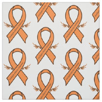 Multiple Sclerosis Ribbon with Angel Wings Fabric