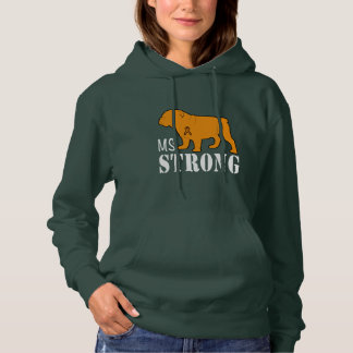 Multiple Sclerosis Strong with Bulldog Hoodie