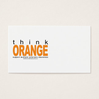 Multiple Sclerosis THINK Orange Business Card