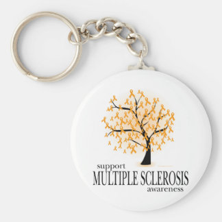 Multiple Sclerosis Tree Basic Round Button Keychain