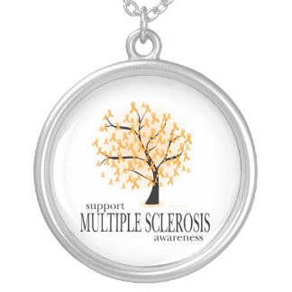Multiple Sclerosis Tree Silver Plated Necklace