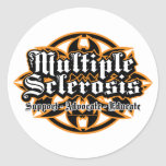 Multiple Sclerosis Tribal Classic Round Sticker