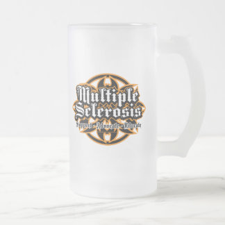 Multiple Sclerosis Tribal 16 Oz Frosted Glass Beer Mug