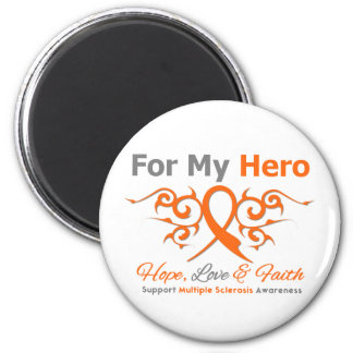 Multiple Sclerosis Tribal Ribbon Hero 2 Inch Round Magnet
