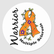 Multiple Sclerosis Warrior 15 Classic Round Sticker