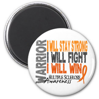 Multiple Sclerosis Warrior 2 Inch Round Magnet