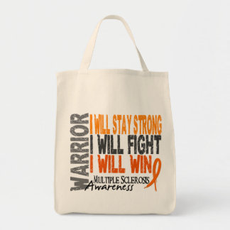 Multiple Sclerosis Warrior Grocery Tote Bag
