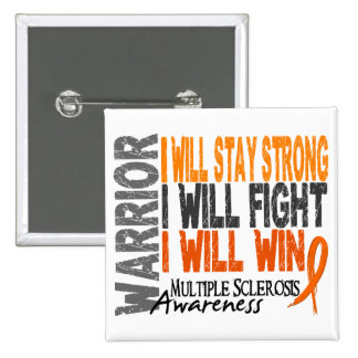 Multiple Sclerosis Warrior 2 Inch Square Button
