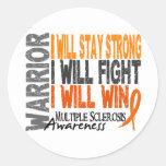 Multiple Sclerosis Warrior Sticker