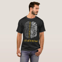 Multiple Sclerosis Yes Its All In My Head Tshirt