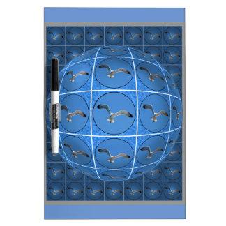 Multiple seagulls in sphere Dry-Erase board