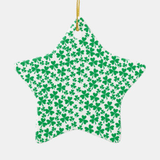 Multiple Shamrocks Ceramic Ornament
