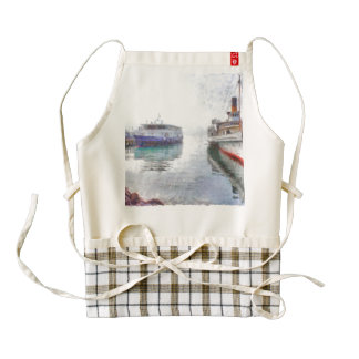 Multiple ships tied up zazzle HEART apron