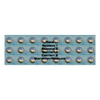 Multiple Silver Spheres Mini Business Card