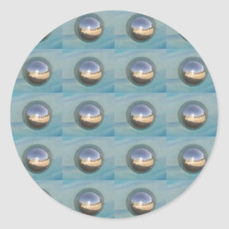 Multiple Silver Spheres Classic Round Sticker