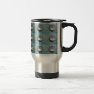 Multiple Silver Spheres Travel 15 Oz Stainless Steel Travel Mug
