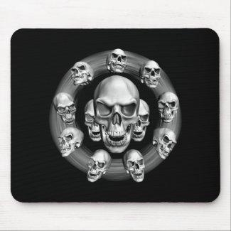 Multiple Skulls mousepad