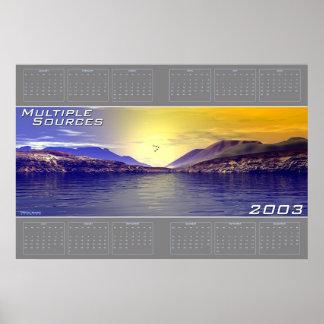 Multiple Sources 2003 Calendar Poster