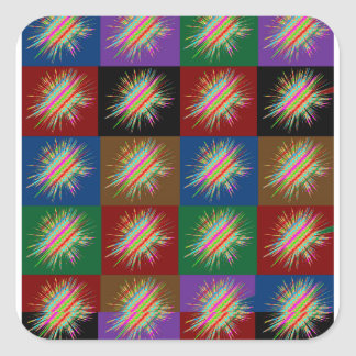 Multiple STARS Sparkle : Enjoy Share the JOY GIFTS Square Sticker