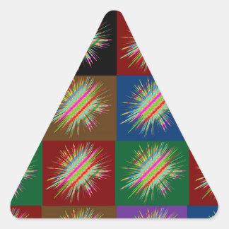 Multiple STARS Sparkle : Enjoy Share the JOY GIFTS Triangle Sticker