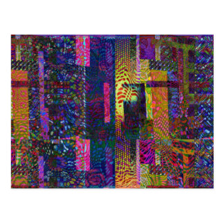 Multiple Style and Color Pattern Postcard