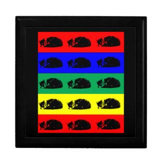 Multiple Tabby Cat Pop Art giftbox Trinket Boxes
