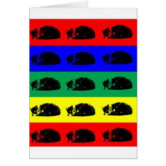 Multiple Tabby Cat Pop Art Greeting Card