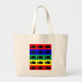 Multiple Tabby Cat Pop Art Jumbo Tote Bag