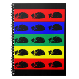 Multiple Tabby Cat Pop Art Notebook