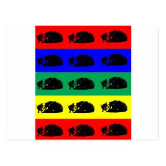 Multiple Tabby Cat Pop Art Postcard