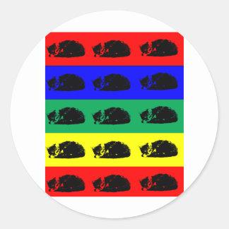 Multiple Tabby Cat Pop Art Sticker