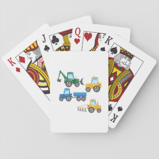 Multiple Tractors Playing Cards