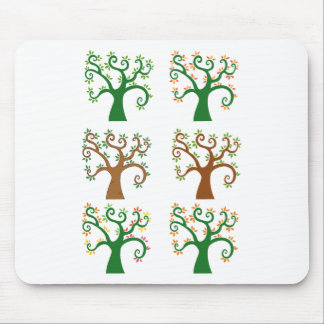 Multiple Tree Design Mouse Pad