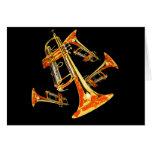 Multiple Trumpets Card